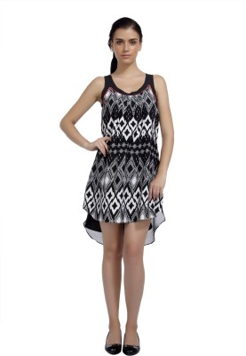 Mineral Women's High Low Black Dress