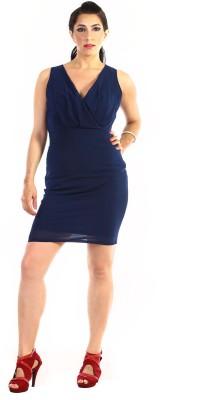 Jiiah Women's A-line Dark Blue Dress