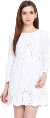 Global Colours Women's A-line White Dress