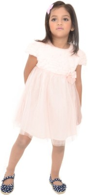 Joy N Fun Girl's Fit and Flare Pink Dress