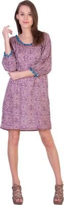 Tops and Tunics Women's A-line Purple Dress
