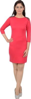 Merch21 Women's Layered Pink Dress