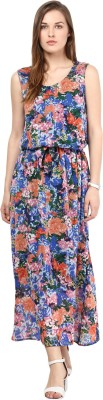 Color Cocktail Women's Maxi Multicolor Dress