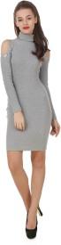 Texco Women's High Low Grey Dress