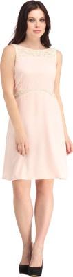 Raas Prêt Women's A-line Pink, White Dress