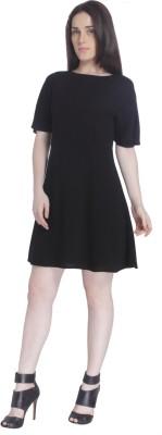 Vero Moda Women's A-line Black Dress at flipkart
