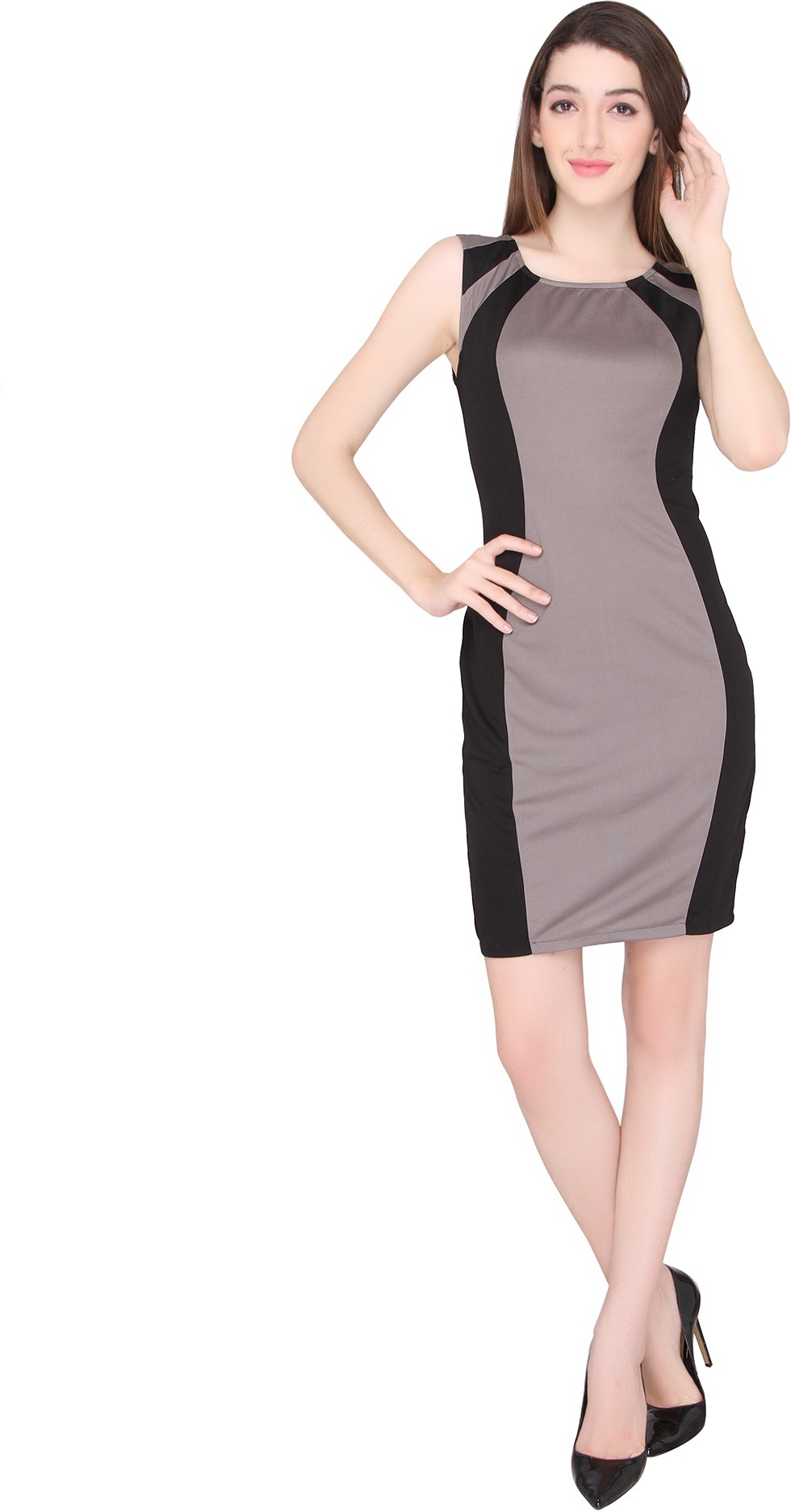 RF Womens Sheath Grey Dress