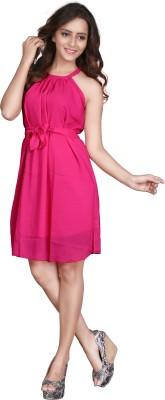 Viva N Diva Women's A-line Pink Dress