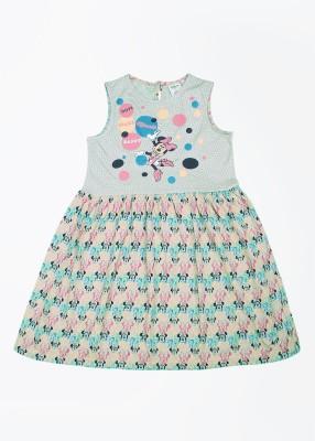 Disney by Genes Girl's Mini/Short Dress(Multicolor, Half Sleeve) at flipkart
