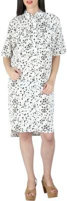 Isadora Women's Shift White, Black Dress