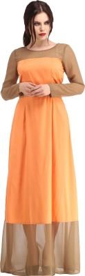 Raas Prêt Women's Maxi Brown, Orange Dress