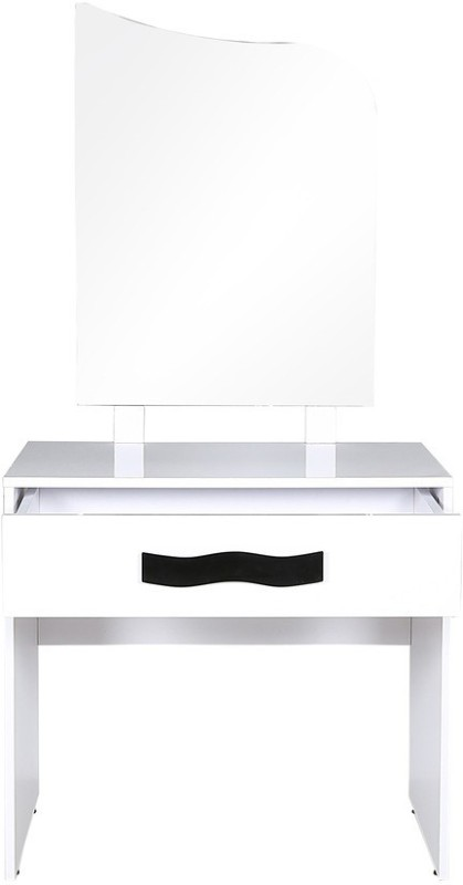 Parin Glass Dressing Table(Finish Color - White)