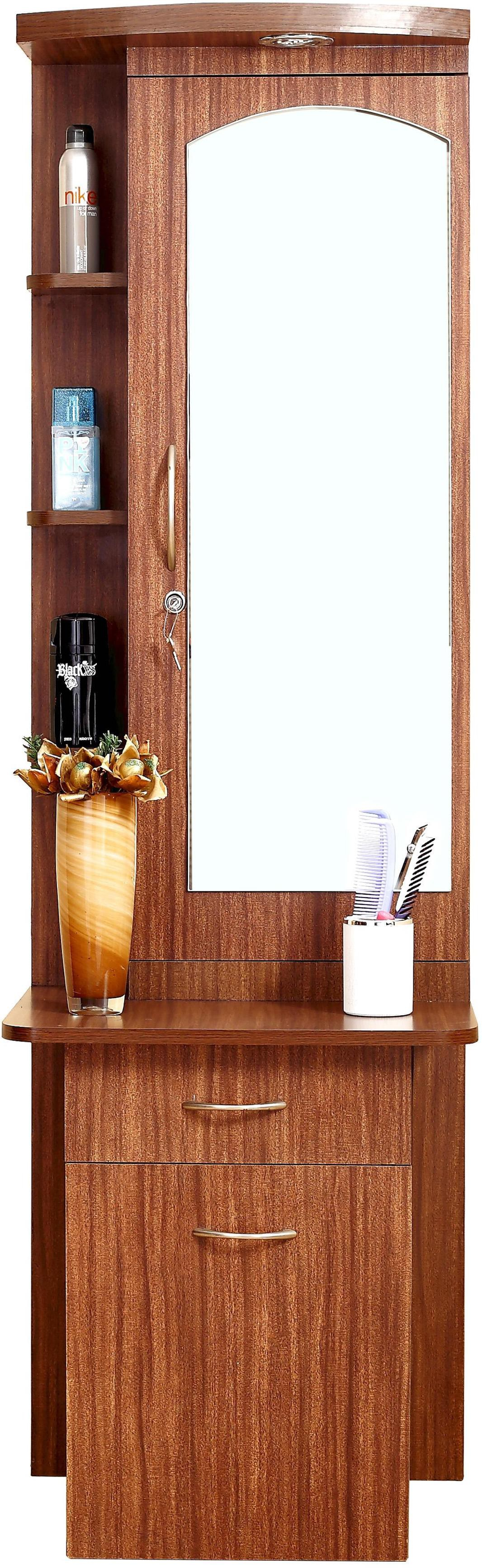Furnicity Engineered Wood Dressing Tablefinish Color Tan