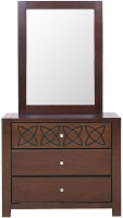 HomeTown Solid Wood Dressing Table(Finish Color - WENGE)