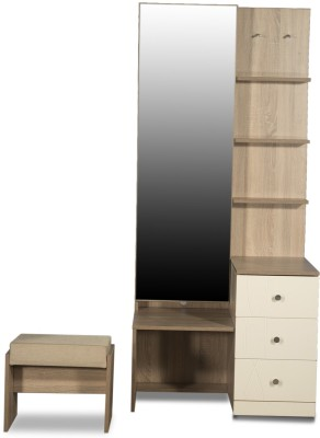 Godrej Interio Zen Premium Engineered Wood Dressing Table(Finish Color - Sonoma oak)