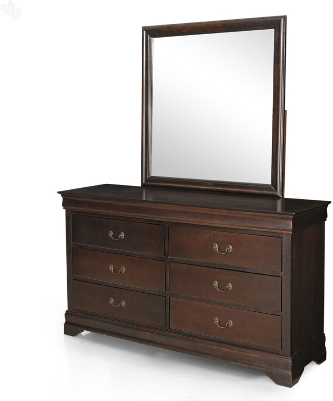 Royal Oak Sydney Solid Wood Dressing Table(Finish Color - Honey Brown)