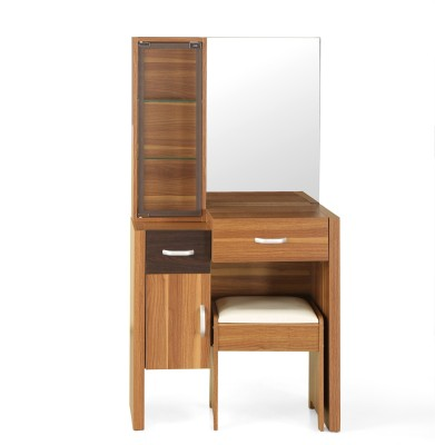 @home by Nilkamal Mike Engineered Wood Dressing Table(Finish Color - Light Walnut)