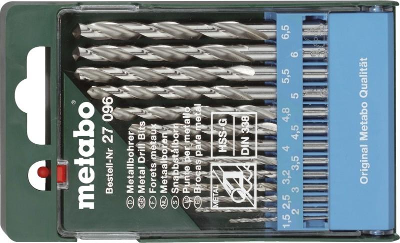 CUMI Metabo HSS Twist Drills Special 13pcs Brad Points Set(Pack of 13)