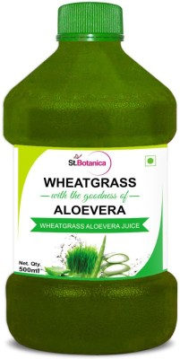 StBotanica Wheatgrass With Aloevera 1000 ml Vegetable