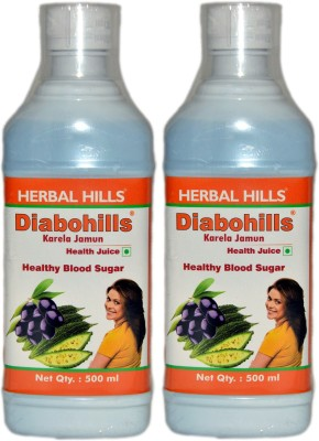 Herbal Hills Diabohills Karela Jamun - Combo 1000 ml Fruit