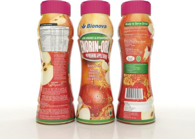Bionova Enorin pack of 3 200 ml Fruit