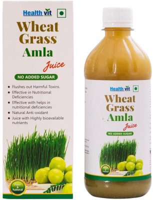 Healthvit Wheat Grass Amla 500 ml Fruit Juice