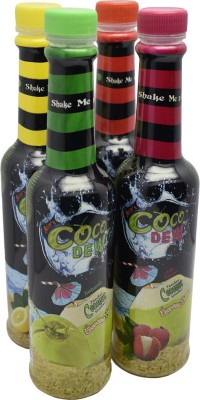 COCO DEW MIX FLAVOUR 250 ml Fruit(Pack of 4)