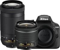 Nikon D3400 DSLR Camera with Lens AF-P DX NIKKOR 18 - 55 mm f 3.5 - 5.6G VR & AF-P DX NIKKOR 70 - 300 mm f 4.5 - 6.3G ED VR(Black)