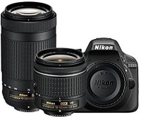 Nikon D3300 DSLR Camera D-ZOOM KIT  AF-P 18-55mm VR   AF-P DX NIKKOR 70-300mm f 4.5-6.3G ED VR Kit Lenses(Black)