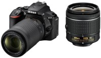 Nikon D5600 DSLR Camera With the AF-P DX Nikkor 18 - 55 MM F 3.5-5.6G VR and AF-P DX Nikkor 70-300 MM F 4.5-6.3G ED VR(Black)