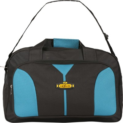 Daikon Fast line-BSB2 17 inch/43 cm (Expandable) Travel Duffel Bag(Black, Skyblue)