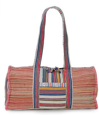 The House of Tara Handloom Fabric Weekender Overnighter Travel Duffel Bag(Multicolor)