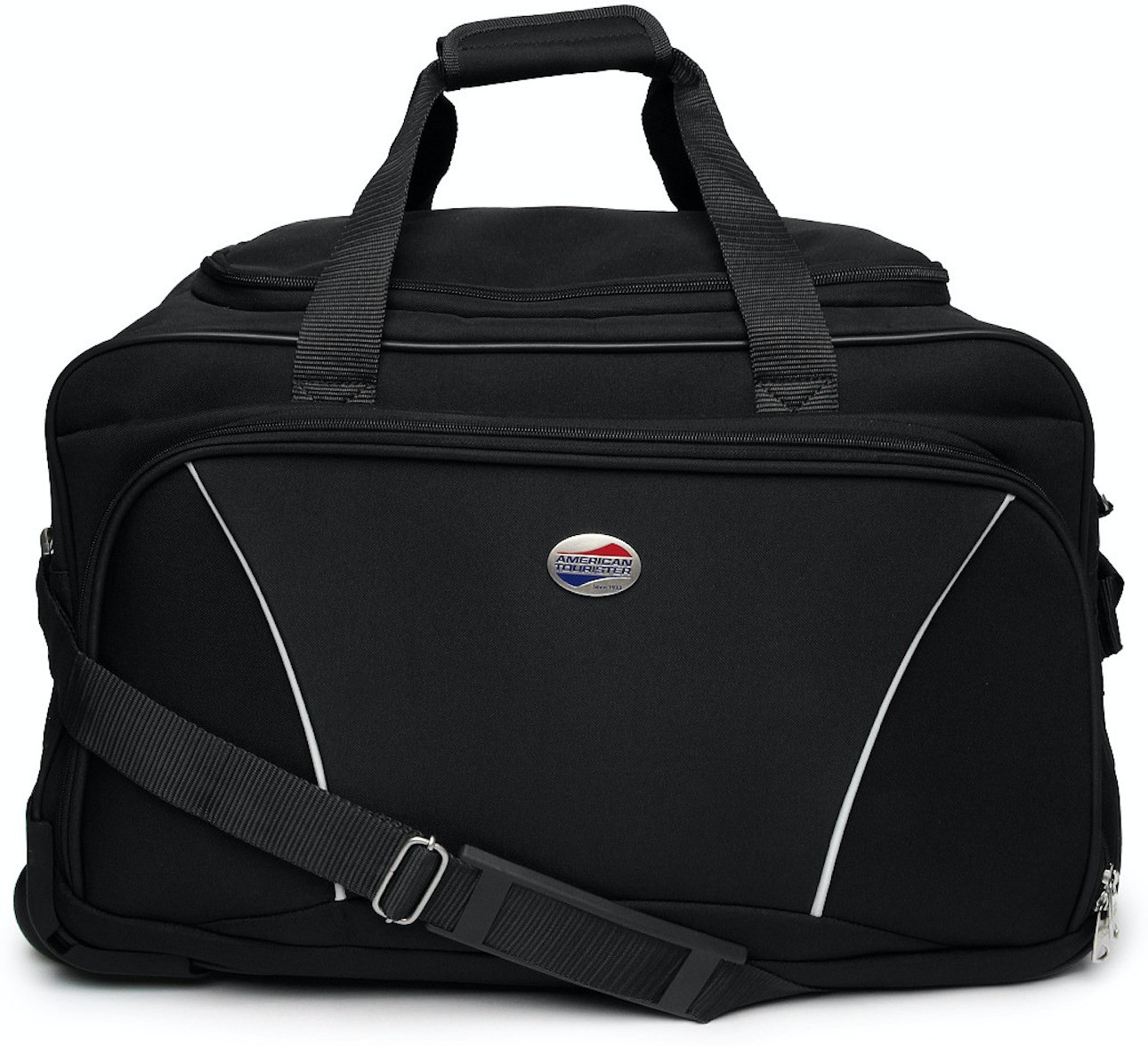 American Tourister Vision (Expandable) Duffel Strolley Bag(Black)