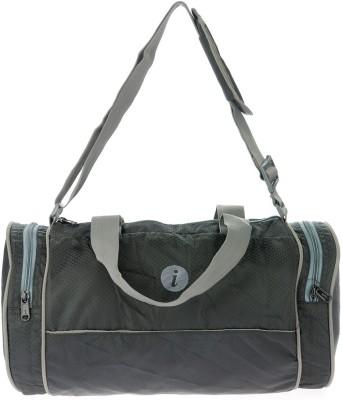 i Plain Spacious 13 inch/33 cm Gym Bag(Black)