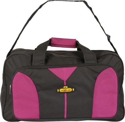 Daikon Fast line-BPN 20 inch/50 cm (Expandable) Travel Duffel Bag(Black, Pink)