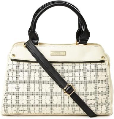Addons Delicate Logo -influenced perforations Duffle bag Travel Duffel Bag(Beige)