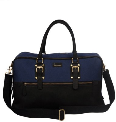 JUSTANNED LEATHER/CANVAS FRONT ZIP DUFFLE BAG 20 inch/50 cm