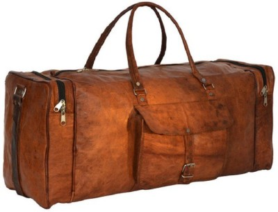 pranjals house genuine leather duffle bag 20 inch/50 cm (Expandable)
