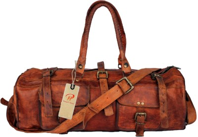 pranjals house vintage handmade Travel Duffel Bag(brown)