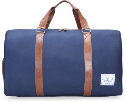 Bareskin BLUE DANIER /TAN LEATHER DUFFLE BAG 20 inch/50 cm