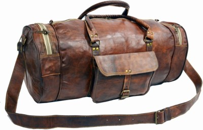 CraftWorld 100% Genuine Leather 24 Inches Duffel Bag 24 inch/60 cm
