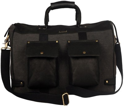 JUSTANNED LEATHER/CANVAS DUAL FRONT POCKET DUFFLE BAG 20 inch/50 cm