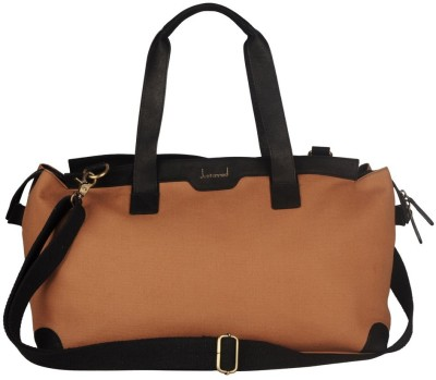 JUSTANNED LEATHER/CANVAS TOP ZIP SLEEK DUFFLE BAG 20 inch/50 cm