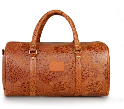 The Clownfish Unisex Ostrich Textured Synthetic Leather Duffle Bag 18 inch/45 cm