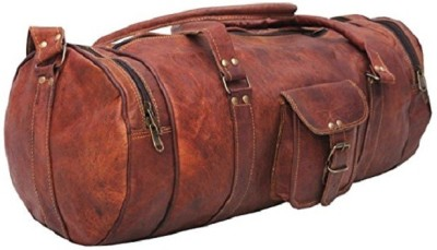 Pranjals House genuine leather multipurpose bag Travel Duffel Bag(Brown)