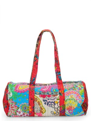 The House of Tara Vintage Fabric Patchwork Overnighter Travel Duffel Bag(Multicolor)