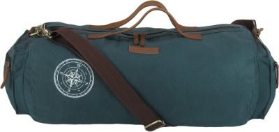 The House of Tara Waxed Canvas Duffle/Gym Bag 20 inch/50 cm Travel Duffel Bag(Blue)