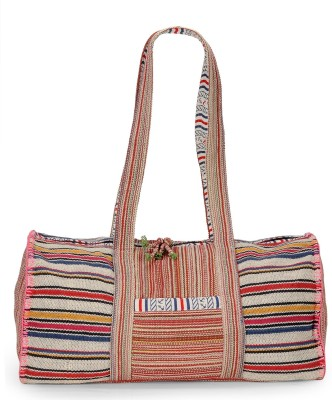 The House of Tara Handloom Fabric Weekender Travel Duffel Bag(Multicolor)