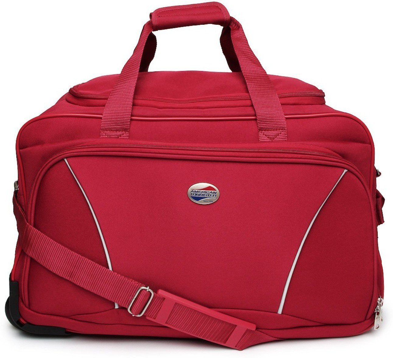 American Tourister Vision (Expandable) Duffel Strolley Bag(Red)