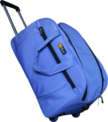 One Up ExpandableBlueTrolleyBag 23 inch/58 cm (Expandable) Travel Duffel Bag(Blue-30)